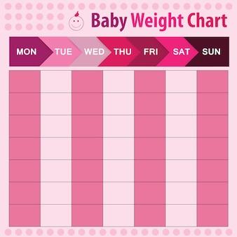 Babygewichtgrafiek voor moeder - vectorillustratie
