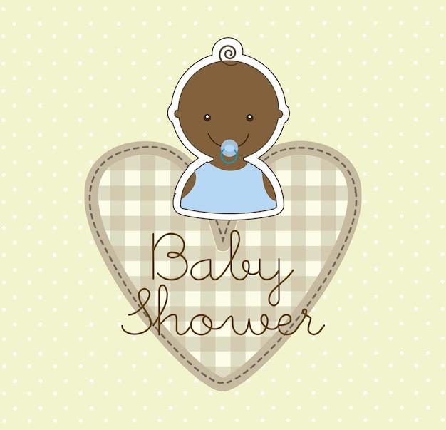 Babyjongen over beige achtergrond vectorillustratie