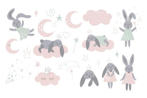Babykamerset voor magische konijnen