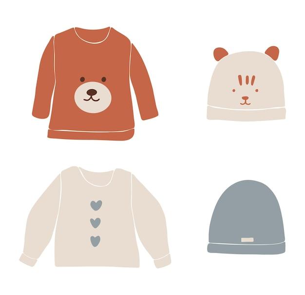 Babykleding boho, abstracte boho kleding, schattige minimale slijtage voor kinderen, kleding, babyset, abstracte elementen voor kinderen