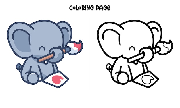 Babyolifant tekening liefde