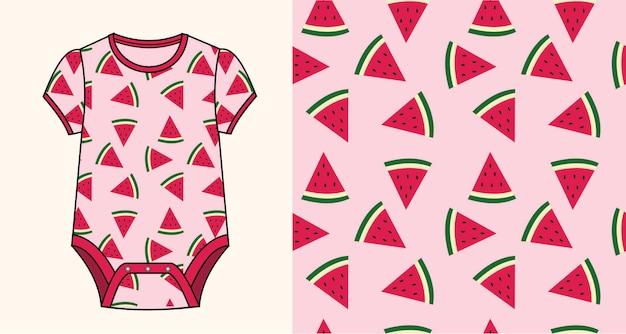 Babypakje met watermeloenpatroon