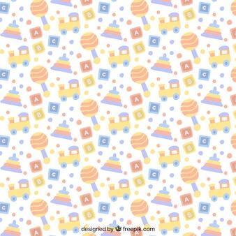 Babypatroon elementen in pastelkleuren