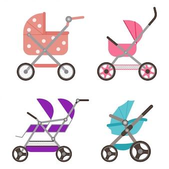 Babypop wandelwagen set