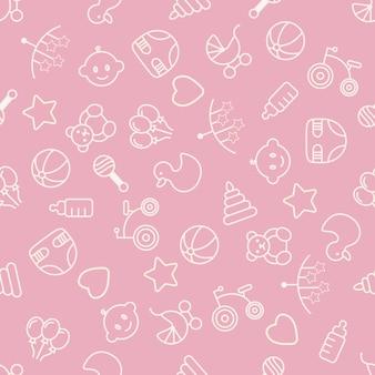 Babyspeelgoed naadloos patroon