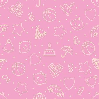 Babyspeelgoed naadloze patroon. kan worden gebruikt voor textiel, papier