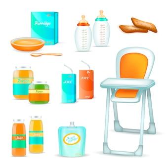 Babyvoeding 3d set