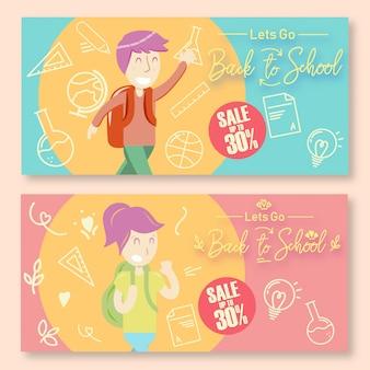 Back to school discount posters landschap