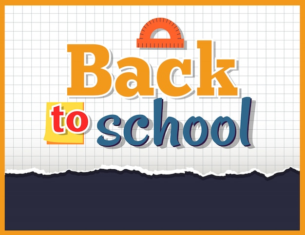 Back to school on on checkered ontwerp