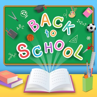 Back-to-school-open boek