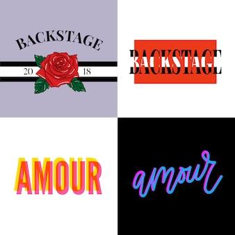 Backstage amour-slogan