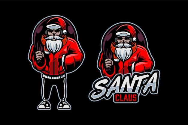 Bad santa logo sjabloon
