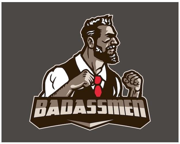 Badassmen esport logo sjabloon