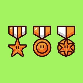 Badge cartoon vector illustratie set