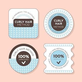 Badge-collectie voor krullend haarmethode