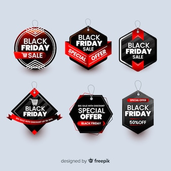 Badge collectie zwarte vrijdag banner