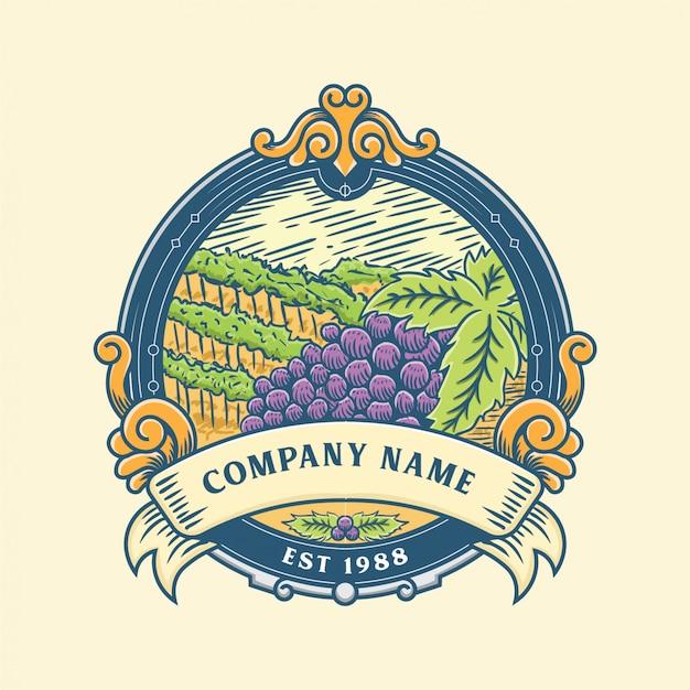 Badge design wijn