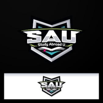 Badge embleem vleugels logo studie logo