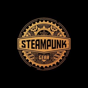 Badge met steampunk-uitrusting