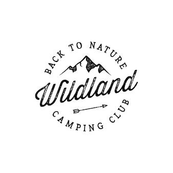 Badge mountain vintage logo ontwerp inspiratie