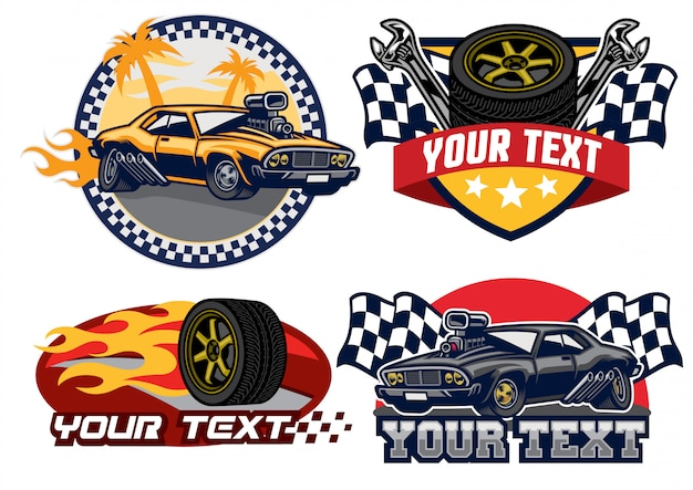 Badge ontwerp muscle car
