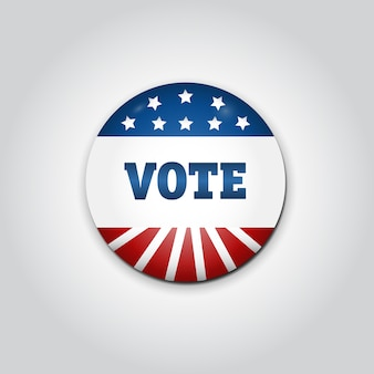 Badge stem. amerikaanse presidentiële verkiezingen in 2016