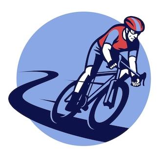 Badge voor fietsrace-evenement