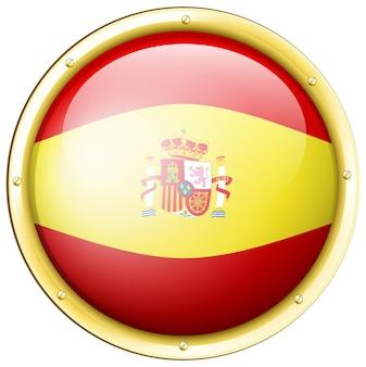 Badgeontwerp voor de vlag van spanje