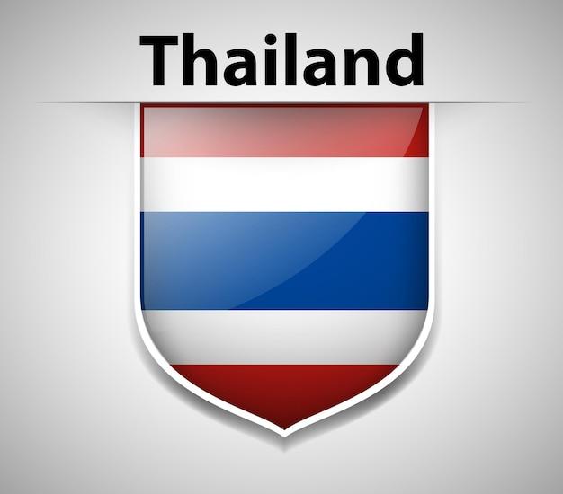 Badgeontwerp voor de vlag van thailand