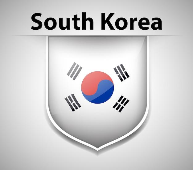 Badgeontwerp voor vlag van zuid-korea