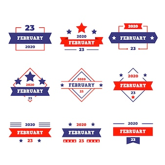 Badges collectie van nationale vaderland dag