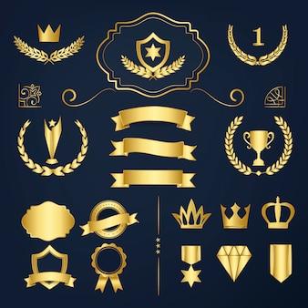 Badges en bannerverzamelingsvectoren van topkwaliteit
