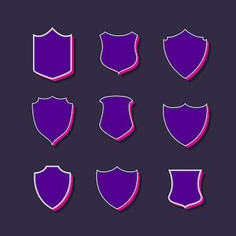 Badges en labels 3d stijl collectie