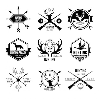 Badges etiketten logo ontwerpelementen jacht