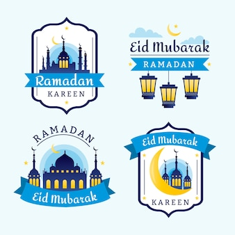 Badges met ramadan thema