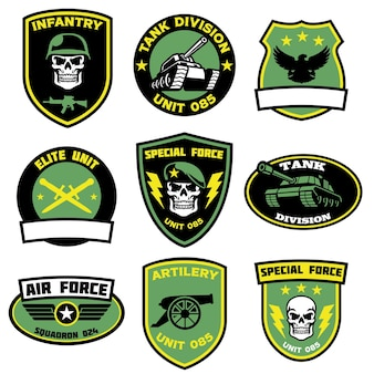Badges militair instellen in bundel