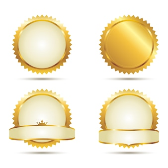 Badges van gold seal set
