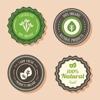 Badges voor biologische producten