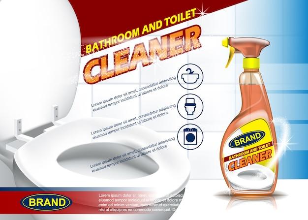 Badkamer en toiletreiniger adv spuitfles