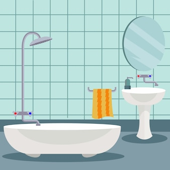 Badkamer ontwerp als achtergrond
