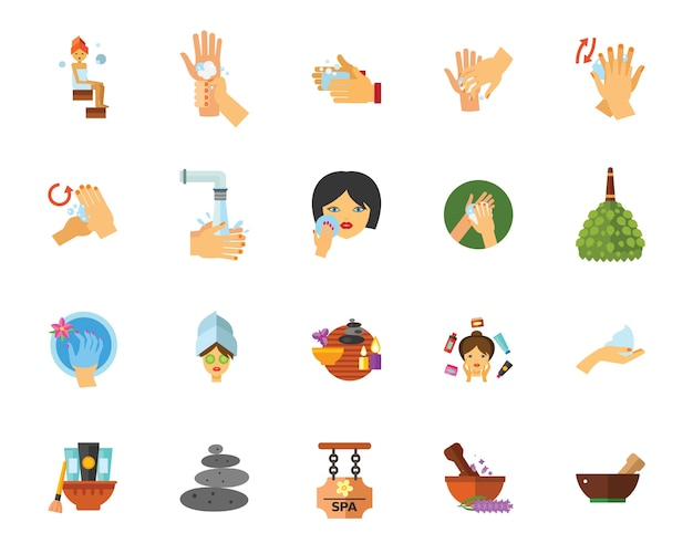 Badkamer pictogramserie