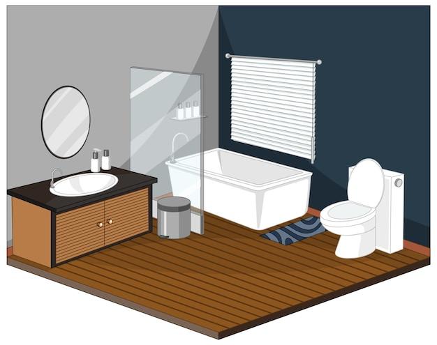 Badkamerbinnenland met meubilair