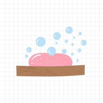 Badkamerelementen zeepbakje en schuimzeep