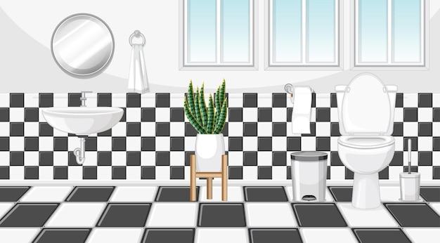 Badkamerinrichting met meubels