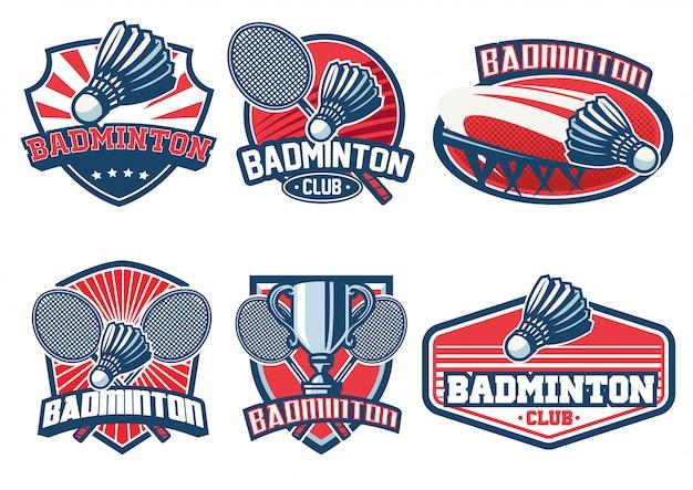 Badminton badge ontwerpset