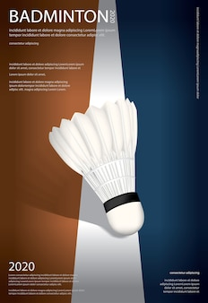 Badminton championship poster illustratie