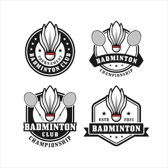 Badminton club design collectie