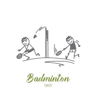 Badminton concept illustratie