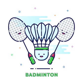 Badminton illustratie
