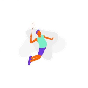 Badminton illustratie